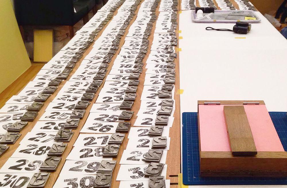 紙活字®の展示、イベントを開催 2