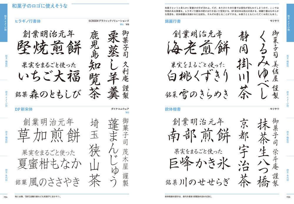 『目的で探すフォント見本帳(Typography Books)』 2